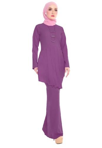 SARIMA purple Kurung Pleated Modest Fashion Purple AEE69AAC275952GS_1