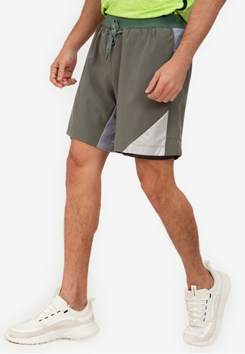 ZALORA ACTIVE grey Shorts with Inner Tights 82484AA31B9A27GS_1