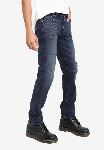 CALVIN KLEIN blue Distressed Body Jeans DEE8FAA1BCFC8CGS_1