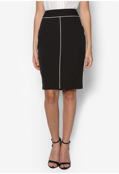 Collection Contrast Piping Skirt