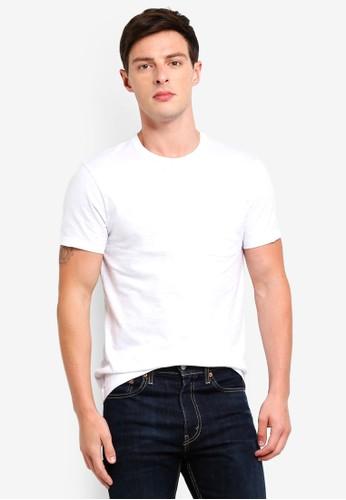 J.Crew white Garment Dye Pocket Tee 1BB83AA4192F38GS_1