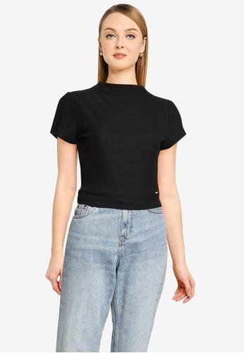 GUESS black Short Sleeve Holly Top 95FEDAA30A6D95GS_1
