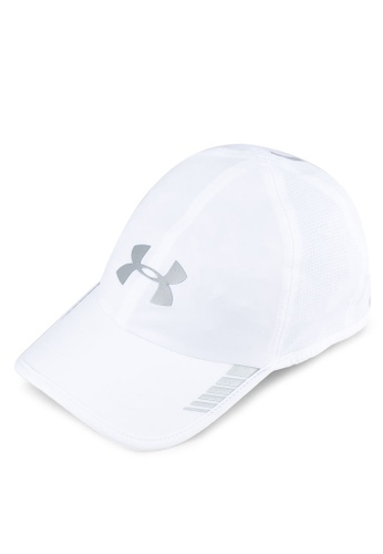Under Armour white and silver Men's Launch AV Cap UN337AC0SU4CMY_1