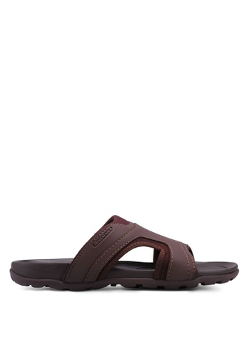 Weinbrenner brown Slide On Sandals C0B6CSHEE4A949GS_1