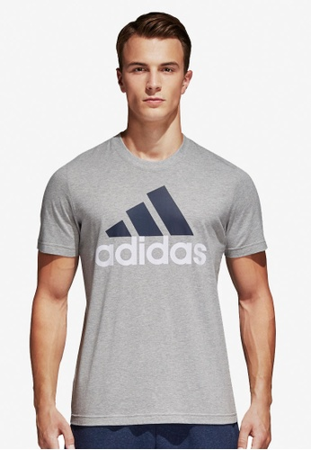 adidas grey adidas ess linear tee AD372AA0SUOMMY_1