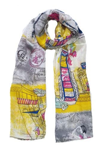 San Marco multi and grey Cosmopolite Hijab Pashmina Grey 49FFDAAA1C7192GS_1
