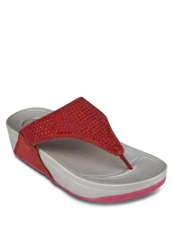 閃飾夾腳厚底涼鞋esprit分店, 女鞋, 鞋
