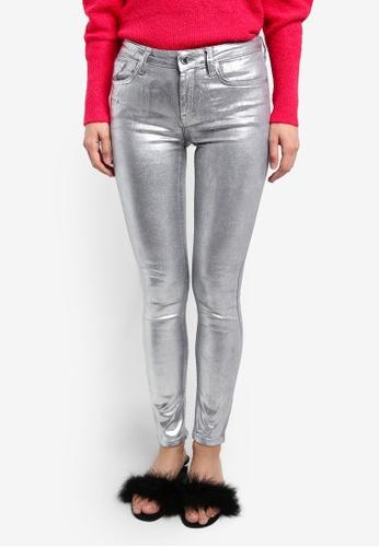 Mango silver Skinny Coated Jeans MA193AA0RVZ2MY_1