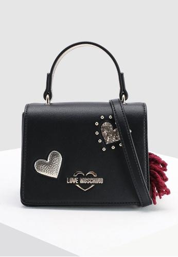 690525dd1da354 Shop Love Moschino Textured Grain Top-Handle Bag Online on ZALORA  Philippines