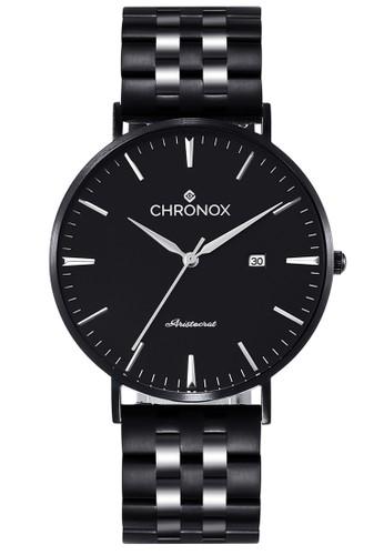 CHRONOX black Chronox CX1002/A1 - Jam Tangan Wanita Casual - Tali Stainless Steel Hitam - FB 5FEFAAC49F6D60GS_1