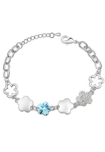 LOVENGIFTS blue Cherry Multi Texture Bracelet (Blue) 77BCAAC8C4DE26GS_1