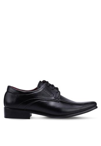 Rocklander 黑色 質感綁帶皮鞋 36618SH4E166D6GS_1