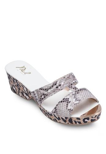 動物紋厚底涼鞋,esprit高雄門市 女鞋, 鞋