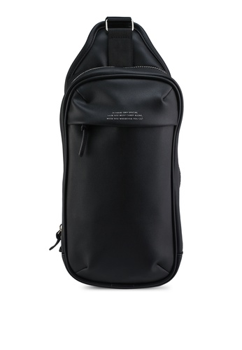 GLOBAL WORK black Leather Effect Backpack 5C22BACA778889GS_1