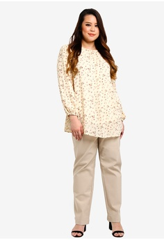 4a213ac6b12e2 BYN Plus Size Chiffon Printed Blouse RM 79.90. Available in several sizes
