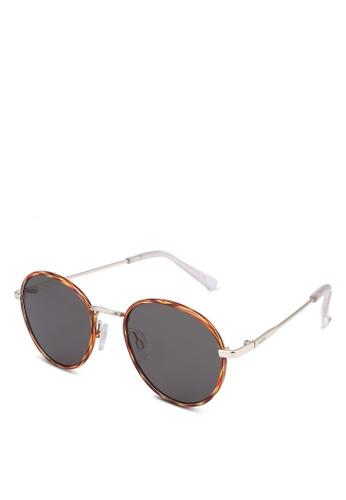 Le Specs 褐色 Zephyr Deux Sunglasses 2442DGL70F1ECAGS_1