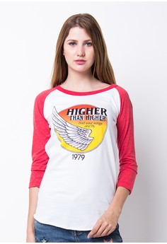 Endorse Tshirt H Rg Higher Red White END-PF127
