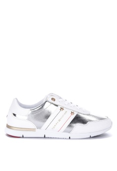 4d70869e17723 Tommy Hilfiger white Tommy Essential Leather Sneakers CC615SH9E055B0GS_1