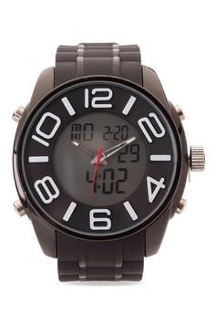 Quartz Analog Digital Watch SP-052 BLK