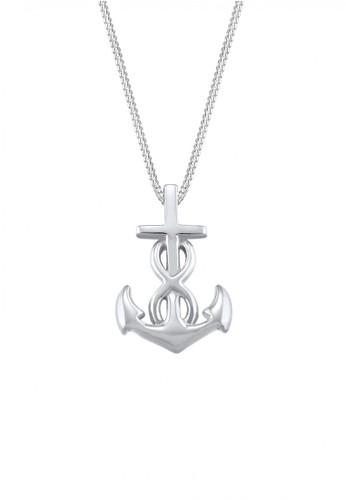 Elli Germany silver Perhiasan Wanita Perak Asli - Silver Kalung Anchor Infinity Cross EL948AC31UTCID_1
