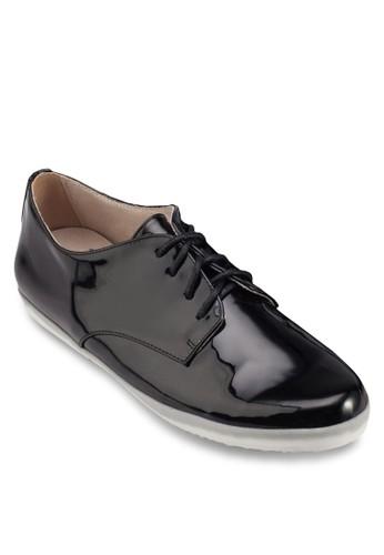漆皮繫帶休閒鞋, 女esprit官網鞋, 鞋