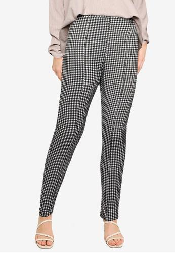 Miss Selfridge black Black Checked Ponte Trousers 520CAAA0B48798GS_1