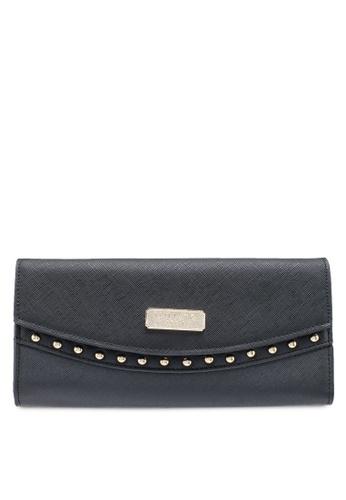Unisa black Saffiano Ladies Bi-Fold Wallet A5C22AC93D0629GS_1