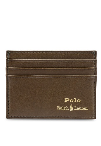 Polo Ralph Lauren green Smooth Leather Card Case 70E4DACB2A7107GS_1