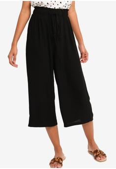 ec8f3960b0a0b ZALORA BASICS black Basic Ribbon Tie Culottes CA568AA899FFABGS_1