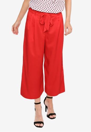 ZALORA WORK red Self Tie Long Pants C2A7DAAAC79E40GS_1