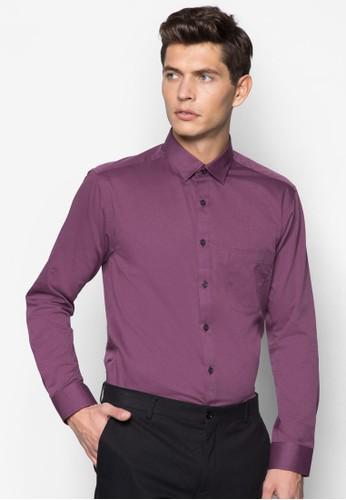 基本寬素色長袖esprit門市襯衫, 服飾, 服飾