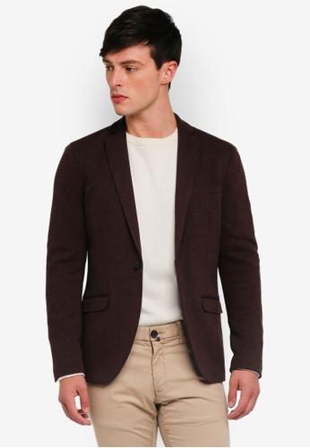 Selected Homme 褐色 Slim-Herrold Blazer B4AA9AAE5CB7CCGS_1
