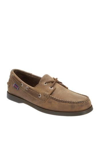 Sebago brown Mens Docksides Boat Shoes SE328SH80GRZPH_1