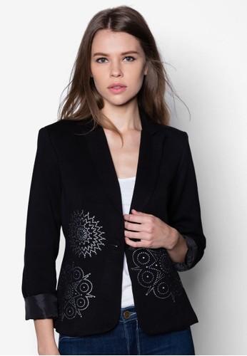 Laura 貼esprit 面試花西裝外套, 服飾, 夾克 & 大衣