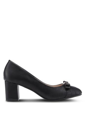Carlton London black Round Toe Bow Heels 1C499SH0F9E294GS_1