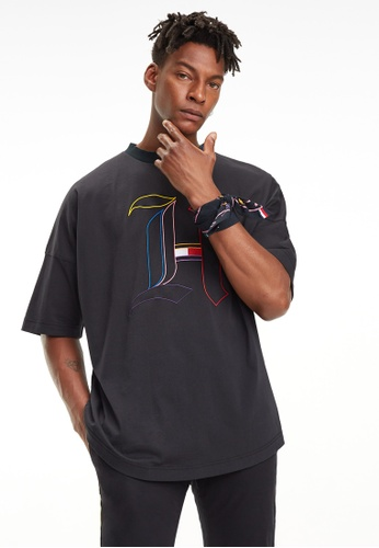 12f6f946d2 Shop Tommy Hilfiger Lewis Hamilton Chest H Logo Tee Online on ZALORA  Philippines