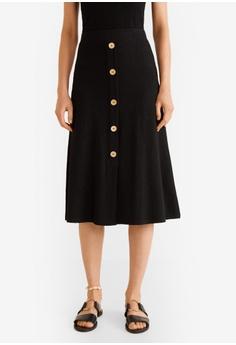 4d366a294016 Mango black Buttoned Midi Skirt C3CFEAA26DD4EBGS_1