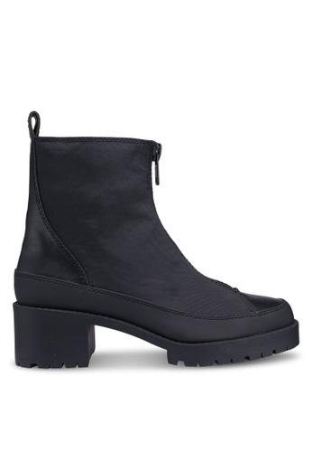 Mango 黑色 高跟拉鍊靴 A046FSHC37F465GS_1