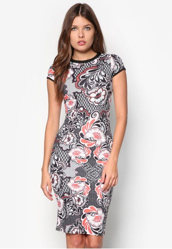 Carmen 印花貼身連身裙, 服zalora 衣服尺寸飾, 服飾