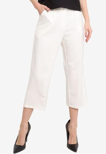 ZALORA WORK 白色 Straight Leg Trousers 87A35AA1A401FFGS_1