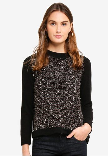 OVS black Knitted Pullover 727A9AAE28BFB2GS_1