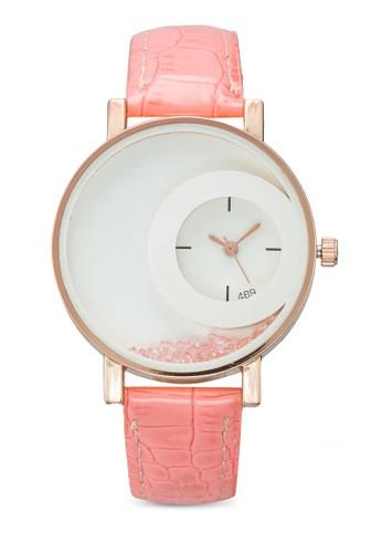 水晶雙圓框仿皮手錶, 錶類, esprit hong kong 分店其它錶帶