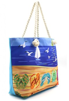 Summer Flip Flaps Beach Tote Bag