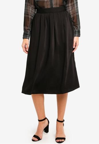 Vero Moda black Billia Calf Skirt 94B50AA8AAFD1EGS_1