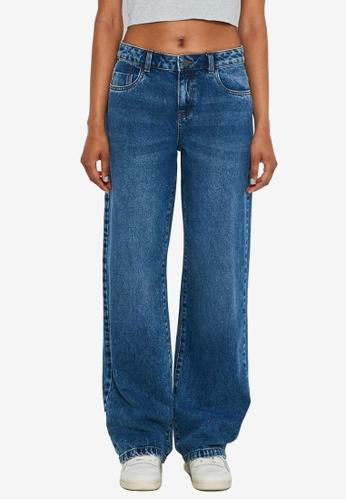 Noisy May blue Amanda Wide Leg Mid-Rise Jeans 7578DAAD925C95GS_1