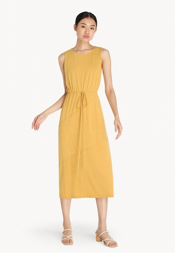 Pomelo yellow Ruched Maxi Dress - Yellow D7161AAE818225GS_1