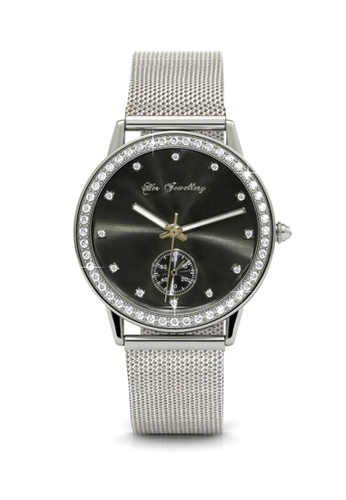 Her Jewellery silver Swarovski® Crystals - Gracious Watch (White Gold) (18K White Gold Plated) Her Jewellery HE581AC0RDPJMY_1