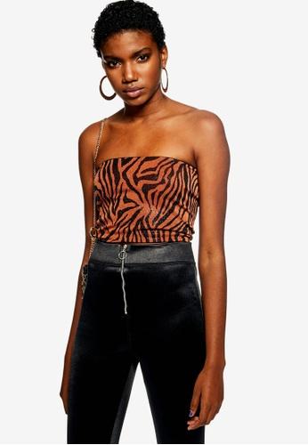 fface8371fcd83 Buy TOPSHOP Zebra Glitter Bandeau Top Online on ZALORA Singapore