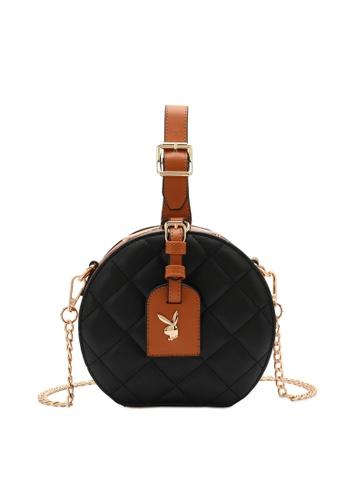 PLAYBOY BUNNY black Playboy Bunny Quilted Sling Bag 0E816AC77B2B63GS_1