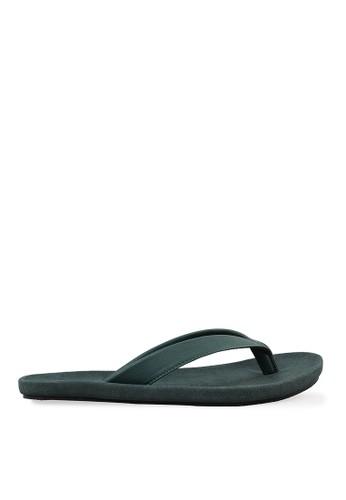 Minarno green Green Basic Faux Leather Sandals MI641SH51SHGID_1